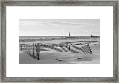 Lake Michigan Don't Fence Me In Framed Print by Rosemarie E Seppala
