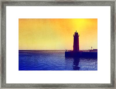 Lake Michigan Framed Print by Erika Weber