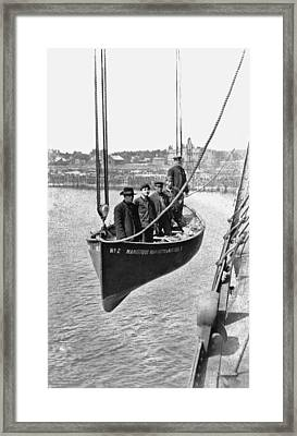 Lake Michigan Ferry Lifeboat Framed Print by Underwood Archives