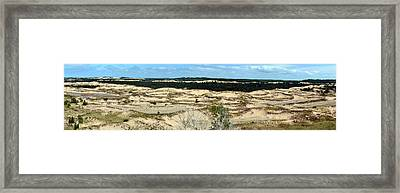 Lake Michigan Hills And Dunes Framed Print by Michelle Calkins