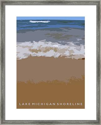 Lake Michigan Shoreline Framed Print