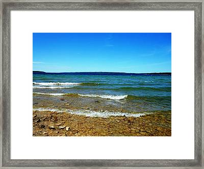 Lake Michigan Framed Print by Tracey Griffor