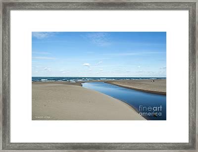 Lake Michigan Waterway  Framed Print