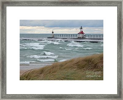Lake Michigan Winds Framed Print by Ann Horn