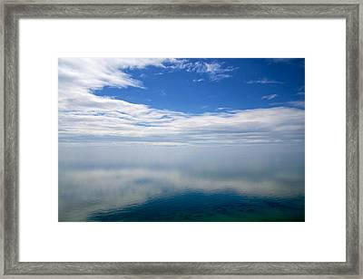 Lake Michigan's Lost Horizon Framed Print