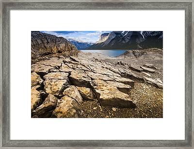 Lake Minnewanka Horizontal Framed Print by Chris Halford