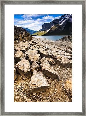 Lake Minnewanka Vertical Framed Print by Chris Halford