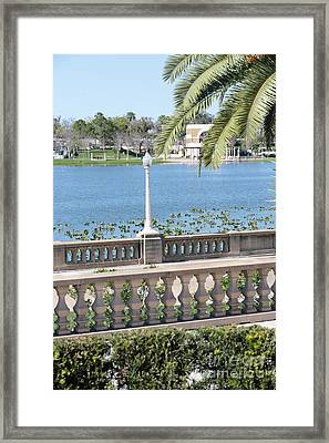Lake Mirror Promenade Framed Print by Carol Groenen