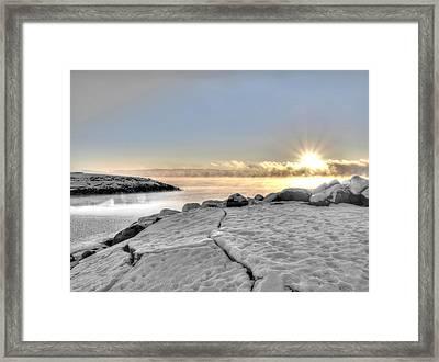 Lake Mjosa Inlet Framed Print by Chris Shirley