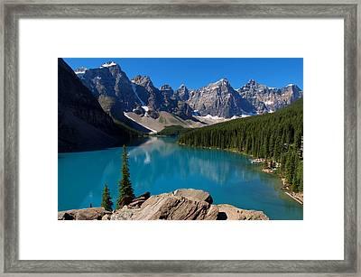 Lake Morine Blue Framed Print