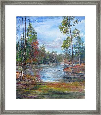 Lake Murray  Framed Print by Gloria Turner