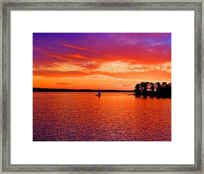 Lake Murray Sunset Framed Print