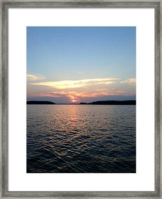 Lake Murray Sunset Framed Print by M West