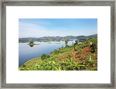 Lake Mutanda Near Kisoro In Uganda Framed Print