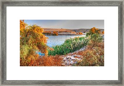 Lake Nasser Sunset Framed Print