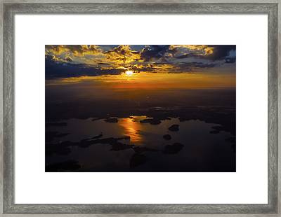 Lake Norman Sunrise Framed Print