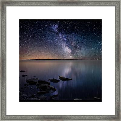 Lake Oahe Framed Print by Aaron J Groen