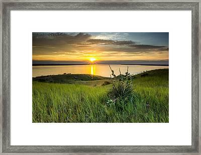 Lake Oahe Sunset Framed Print