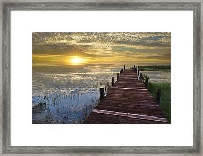 Lake Of Enchantment Framed Print by Debra and Dave Vanderlaan