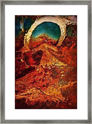 Lake Of Lava Framed Print by Leanna Lomanski