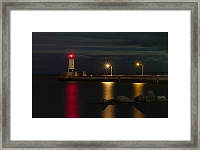 Lake Of Lights Framed Print by Michael Murphy