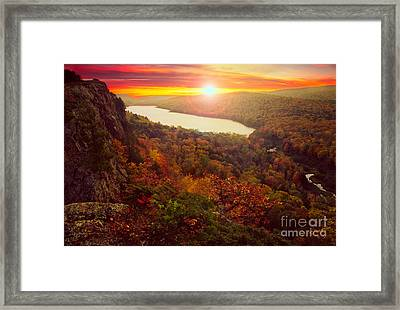 Lake Of The Clouds Framed Print by Todd Bielby
