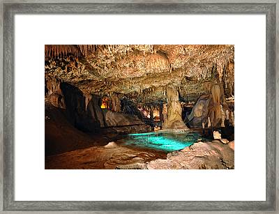 Lake Of The Moon - Inner Space Caverns Framed Print