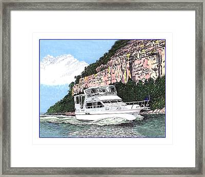 Yachting On The Lake Of The Ozarks Framed Print