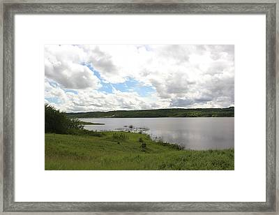 Lake Of The Prairies Framed Print by Ryan Crouse