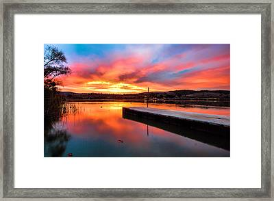 Framed Print featuring the photograph Lake Oneil Sunset by Robert  Aycock