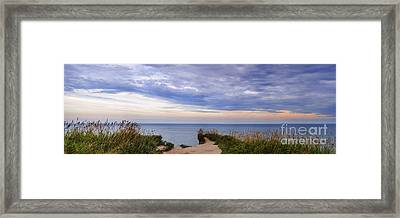 Lake Ontario At Scarborough Bluffs Framed Print by Elena Elisseeva