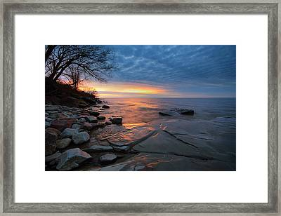 Lake Ontario At Sunset Framed Print by Tracy Welker