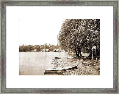 Lake Orion, Mich, Orion Camp Ground Assembly, Lakes & Framed Print