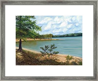 Lake Ouachita Framed Print by Helen Eaton