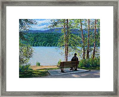 Lake Padden - Schwartz Bench Framed Print