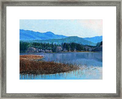 Lake Padden - View Near Gosset Bench Framed Print