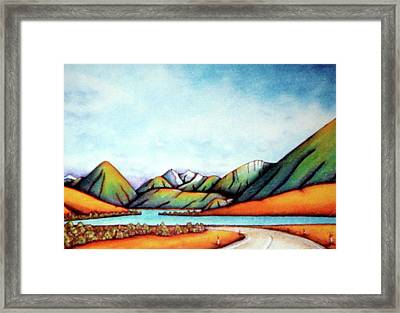 Lake Pearson 1999 Si Nz Framed Print by Barbara Stirrup