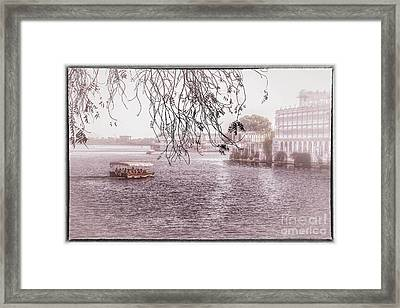 Lake Pichola In Udaipur Framed Print