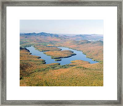 Lake Placid In Autumn, Adirondack, New Framed Print by Panoramic Images