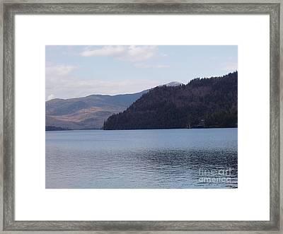 Framed Print featuring the photograph Lake Placid Mountains by John Telfer