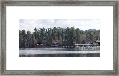 Framed Print featuring the photograph Lake Placid Summer House by John Telfer