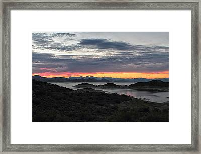 Lake Pleasant Arizona Framed Print