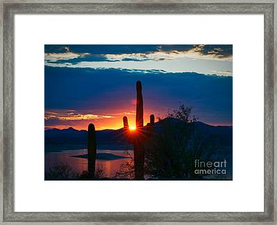 Lake Pleasant Arizona Framed Print