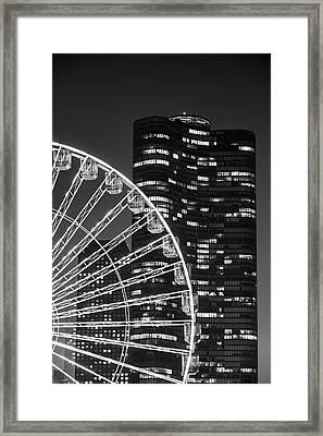 Lake Point Tower Framed Print by Sebastian Musial