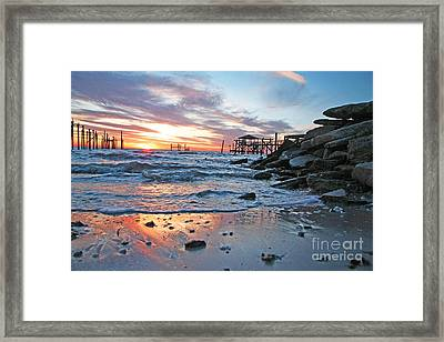 Lake Ponchartrain Sunset Framed Print
