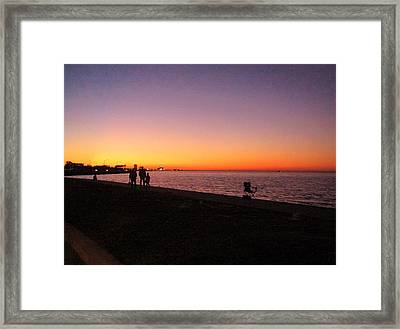 Lake Pontchartrain Sunset Framed Print