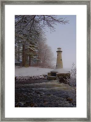 Lake Potanipo Lighthouse Framed Print by Brenda Jacobs