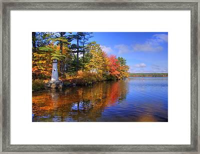 Lake Potanipo Lighthouse Framed Print