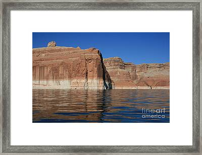 Lake Powell Cliffs Framed Print by Marty Fancy