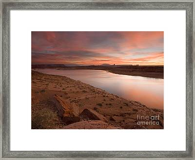 Lake Powell Dawning Framed Print by Mike  Dawson